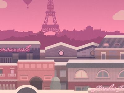 Paris - illustration for a game