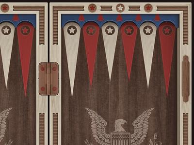 America - backgammon desk