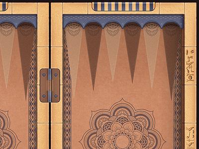 Cairo - backgammon desk unity mobile ios illustration game desk backgammon android cairo egypt