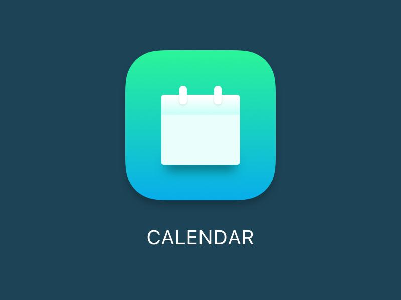 App Icon ios 11 gradient blue green calendar apple ios app icon icon app
