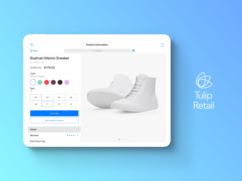 Product Information platform shopping cart product information catalog ipad pro ui app apple ios