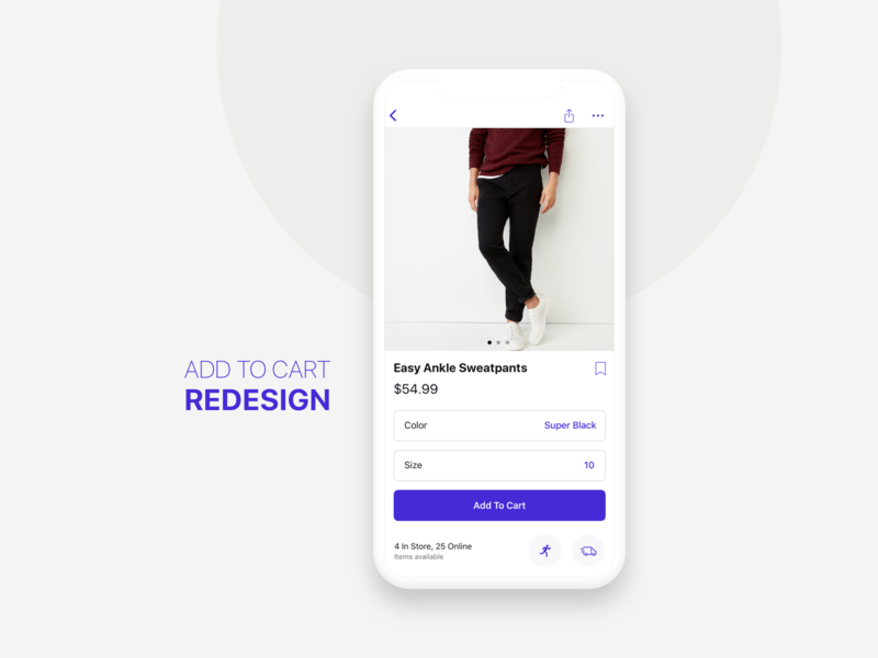 Rethinking the shopping experience ui catalog add to cart design app ios