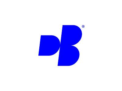 DB blue logomark db branding symbol lettering design logo