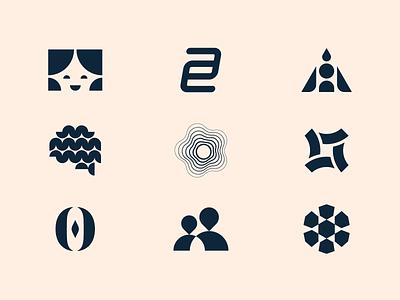 Logomarks flat design icon symbol branding design logo