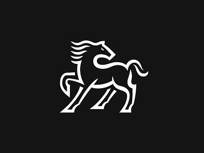 Horse black horse vector symbol illustration logo design