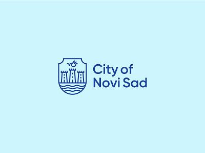 Coat of arms city refresh modern novi sad coat of arms vector branding symbol logo design