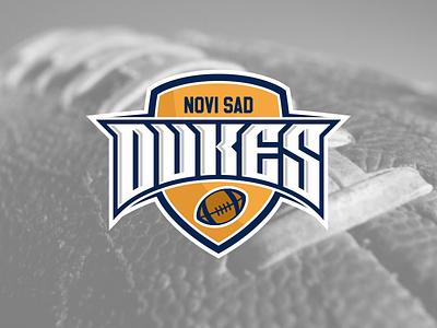 Dukes Novi Sad football sport logo design