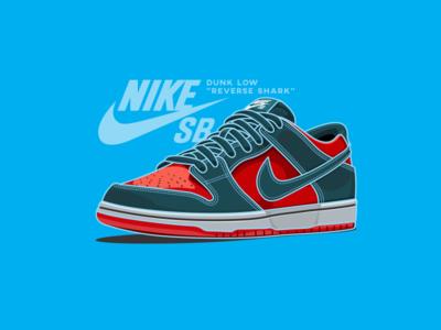 "Nike SB Dunk Low ""Reverse Shark"""