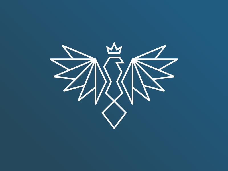 Eagle line logo eagle design