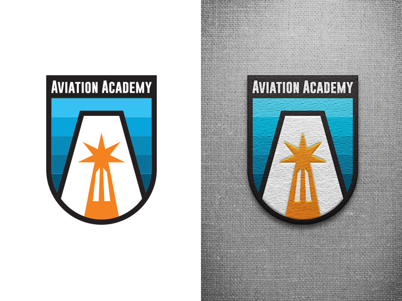 Aviation Academy Patch academy acviation patch logo design