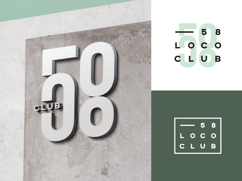 58 Loco Club club loco 58 design logo