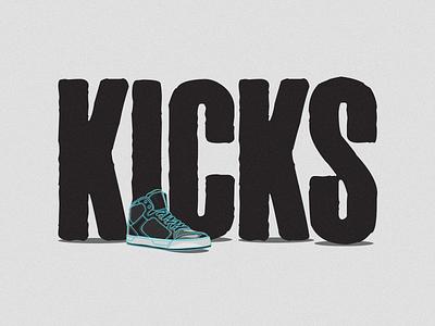 KICKS sneakres kicks illustration design