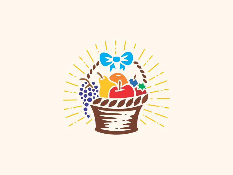 Fruit Basket colors basket fruit illistration design logo