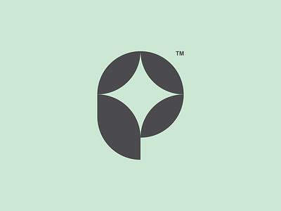 P p symbol letter design logo