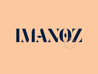 IMANOZ chocolate navy blue cacao pure chocolate imanoz branding logo design