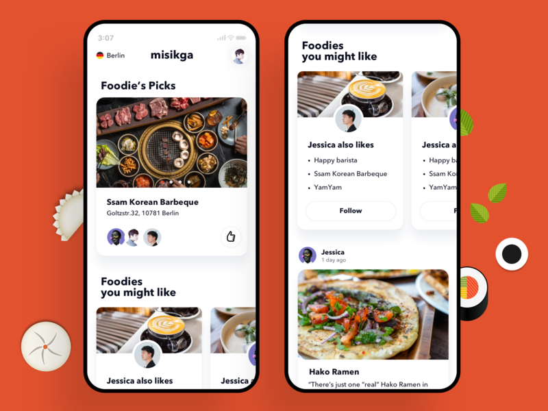 Misikga, Mobile, Feed vote rank restaurant app restaurant feeds foodie food misikga mobile