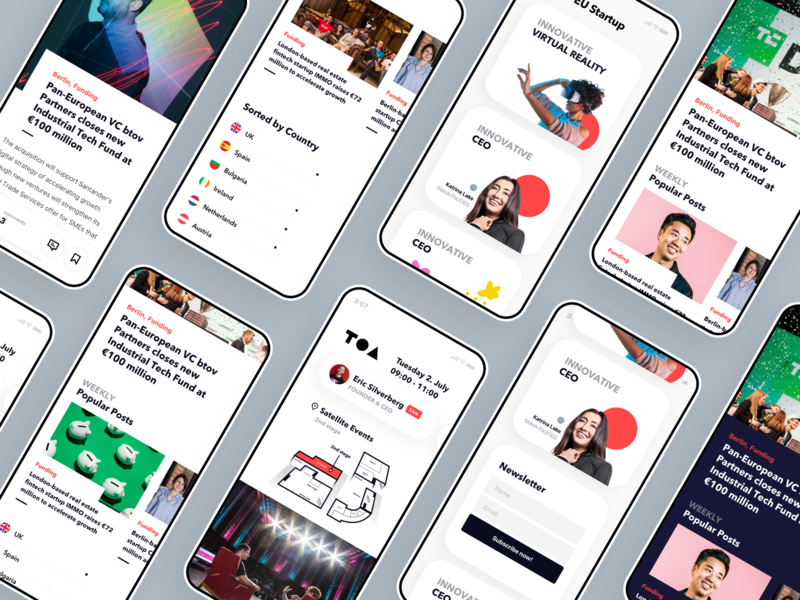 tech news, mobile ui app simple ceo conference user interface tech mobile layout news
