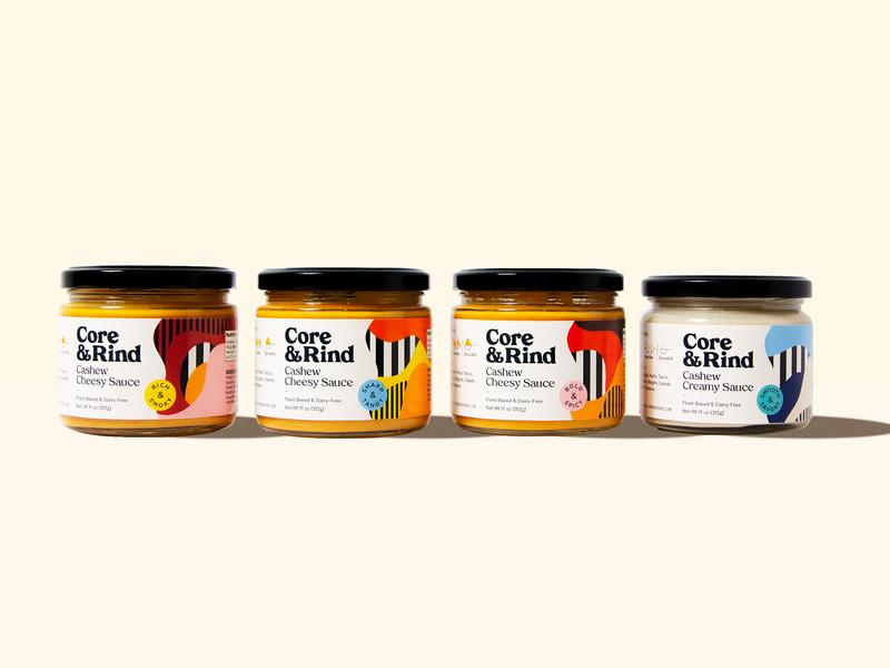 Core & Rind - Packaging vector yellow packaging identity branding logo design black illustration pattern