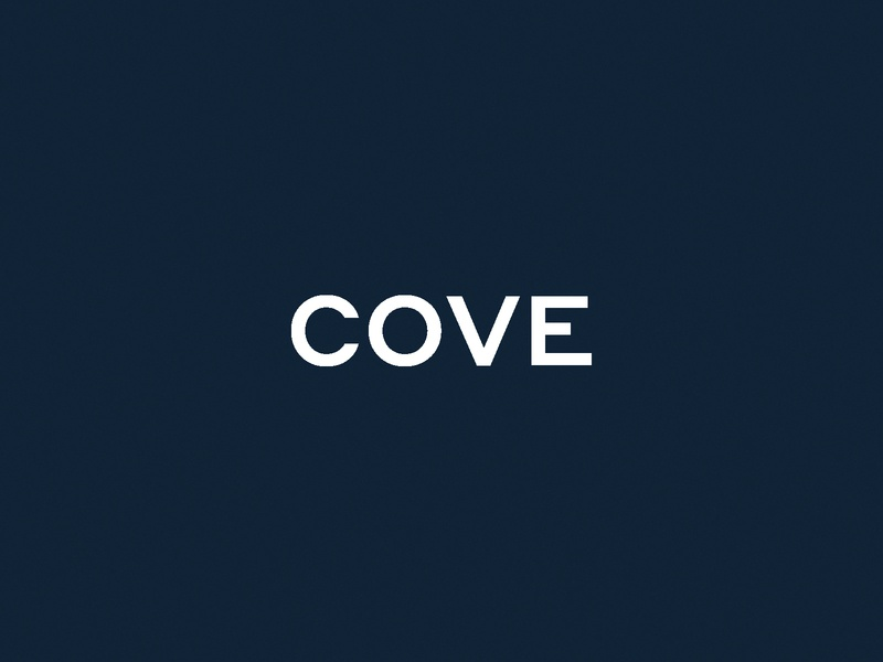 Cove - Logo cannabis branding cannabis design cannabis typography identity vector branding blue design logo