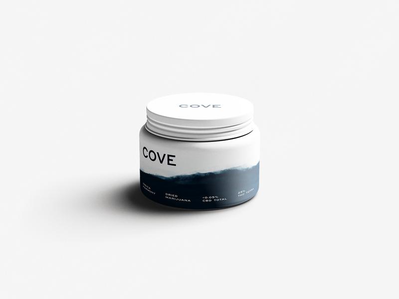 Cove - Jar cannabis branding cannabis design cannabis logo cannabis white black packaging texture branding design logo blue illustration