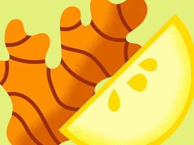 Ginger & Lemon lemon ginger bold color orange yellow design shapes illustration pattern shape texture