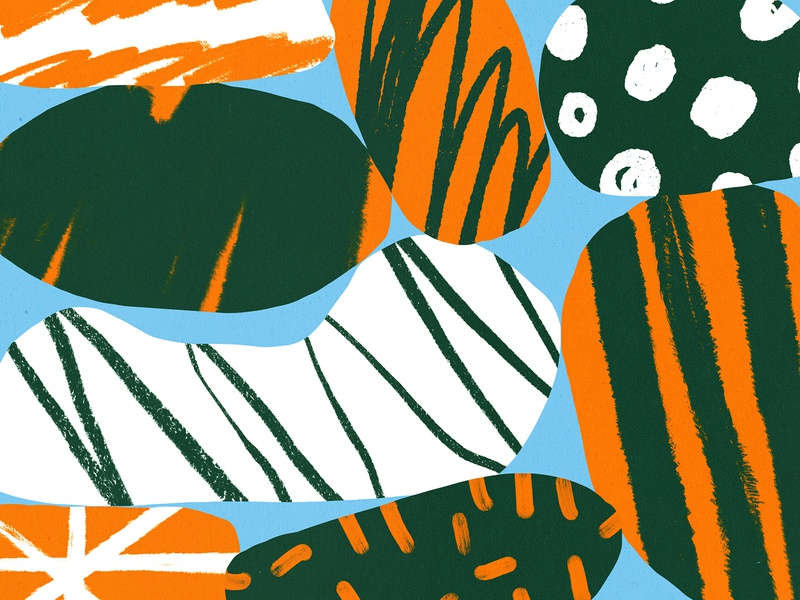 ✏️ bold design color orange shapes green illustration pattern shape texture