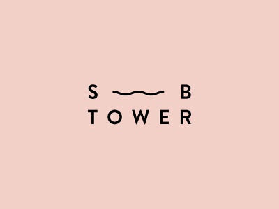 Southbank Tower - Logo icon typography vector shape pink illustration mark identity branding design logo