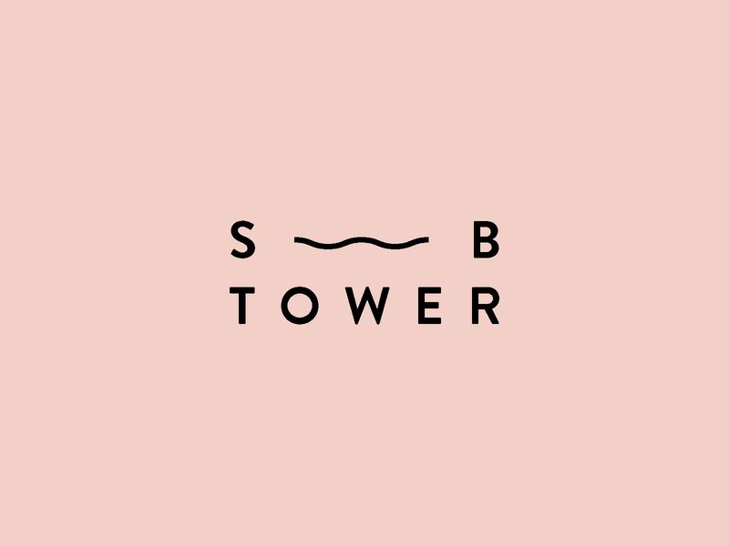 Southbank Tower - Logo icon typography vector shape pink illustration mark identity branding design logo