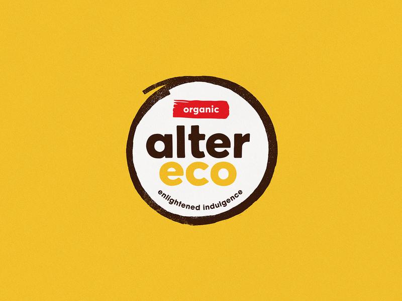 Alter Eco - Logo typography pattern shape vector branding logo design yellow illustration texture