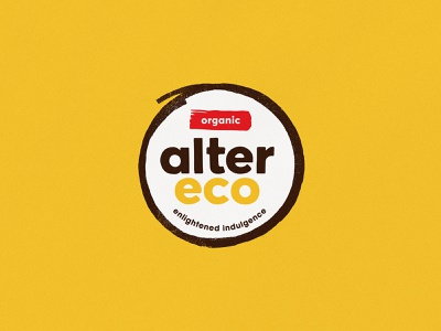 Alter Eco - Logo typography pattern shape vector branding logo design yellow illustration texture