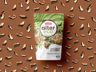 Alter Eco - Clusters snack food identity package design branding design chocolate packagedesign packaging design branding logo texture illustration pattern
