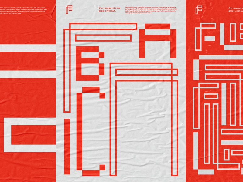 Poster Exploration icon typography ux tech poster experimental typeography type red branding logo design illustration