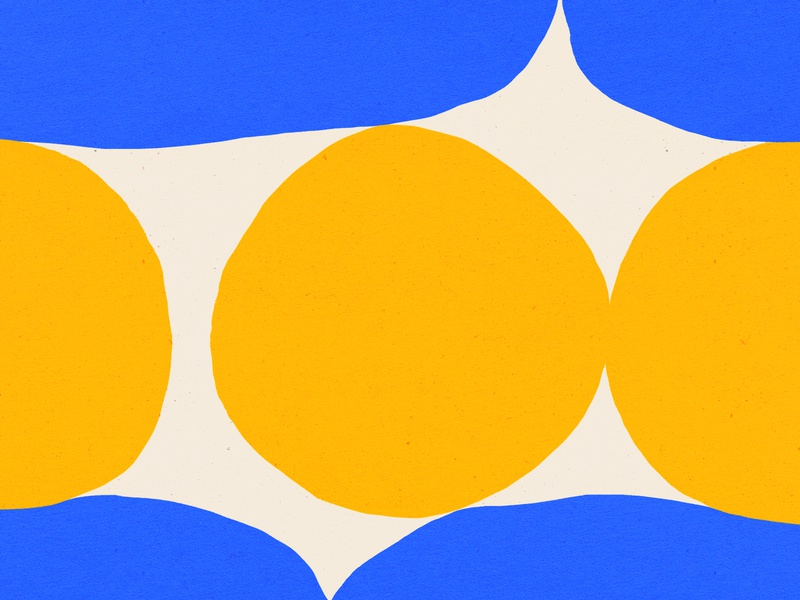 Pattern Play vector bold design shapes blue yellow illustration pattern shape texture