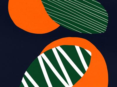 🍊 fruit vector bold color orange design shapes illustration pattern shape texture
