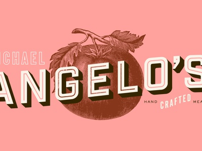 Michael Angelo's Exploration 🍅 branding design brand identity lettering packaging identity type logotype typography texture pink illustration branding design logo