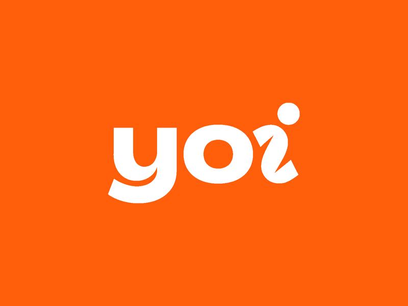 Yoi typography vector illustration design orange identity branding identitydesign branding logodesign logotype type wordmark idenity logo