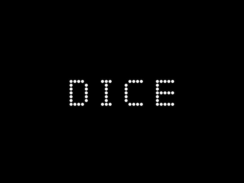 Dice - Logo type wordmark identity branding identity design identity web app icon typography vector branding logo design shapes illustration
