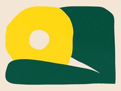 🌼 nature flower green design shapes yellow illustration shape texture