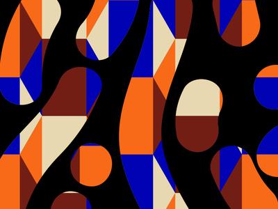 3142018 maroon blue orange black pattern