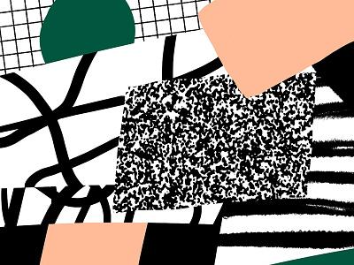 4122018 shape green pattern texture bw white black