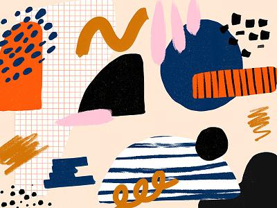 5172018 shape pattern texture brown blue navy white black orange cream pink