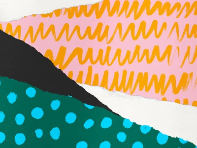 Mix and Match green black illustration bold color white orange blue pink pattern texture