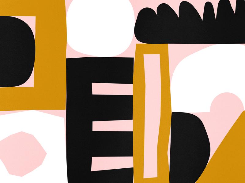 Morning Doodles shapes color design brown illustration white pink black shape texture