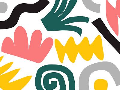 〰️ grey shapes design bold color illustration yellow green pink black shape pattern