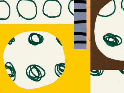 Here's something to look at. vector brown bold color shapes illustration yellow green blue black shape pattern texture