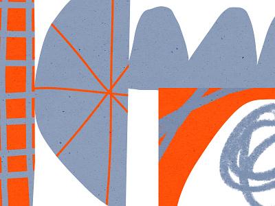 Wonky Stuff vector design bold color shapes illustration orange blue shape pattern texture