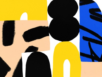 Some shapes for your day! bold design shapes illustration blue yellow black pattern shape texture