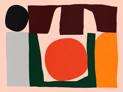 Just Making design bold color orange shapes green blue yellow illustration shape texture
