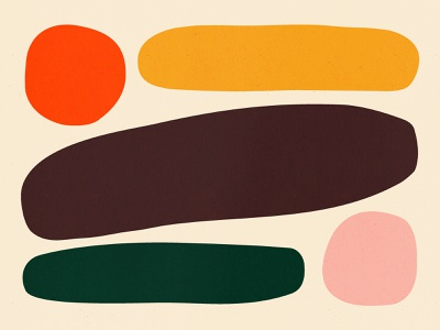 Good Days design bold orange color pink green yellow illustration shape texture