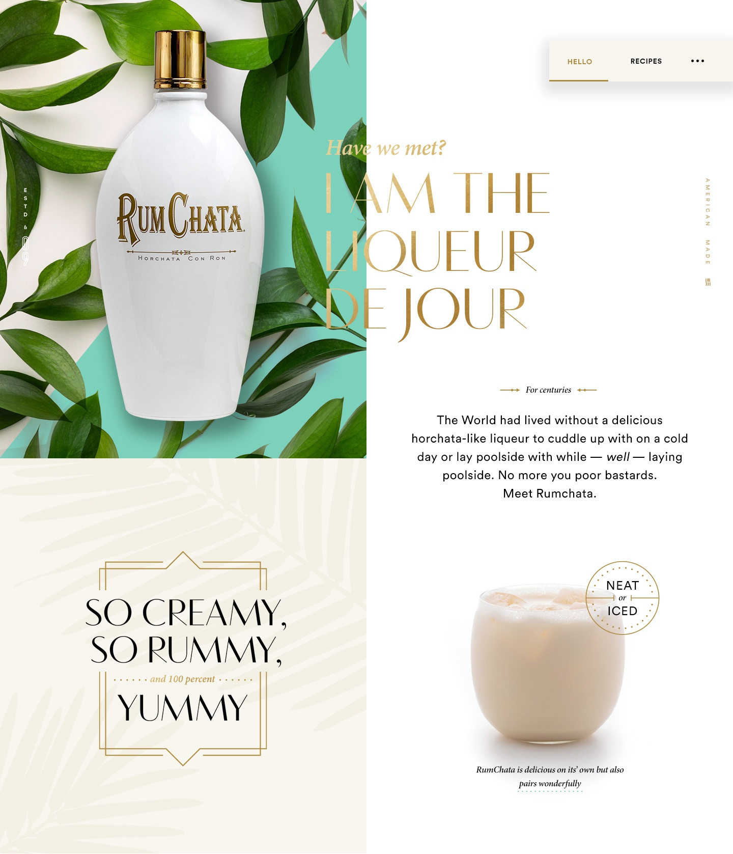 Dribbble rumchata early concept full